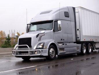 white trailer truck